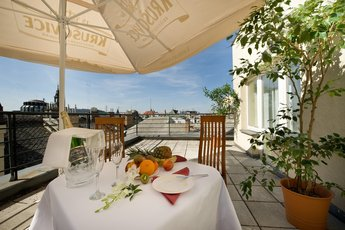 Hotel Ramada Prague City Centre**** - terrace at the executive suite no. 607