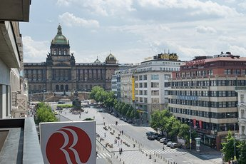 Hotel Ramada Prague City Centre**** - view from the balcony in double room